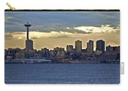 Seattle Skyline In Twilight Carry-all Pouch