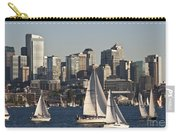 Seattle Skyline With Sailboats Carry-all Pouch