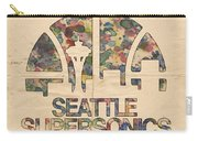Seattle Supersonics Poster Vintage Carry-all Pouch