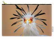 Secretary Bird Portrait Close-up Head Shot Carry-all Pouch by Johan Swanepoel