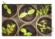 Seedlings Growing In Peat Moss Pots Carry-all Pouch
