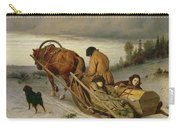 Seeing Off The Dead, 1865 Oil On Canvas Carry-all Pouch