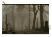 A Graveyard Seeped In Fog Carry-all Pouch