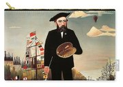 Self Portrait Carry-all Pouch by Henri Rousseau