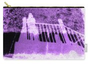 Self Portrait In Lavender Looking Down Over The Rails Carry-all Pouch