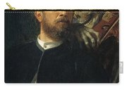 Self Portrait With Death Carry-all Pouch by Arnold Bocklin