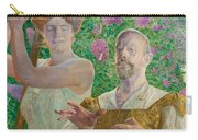 Self-portrait With Muse And Buddleia Carry-all Pouch