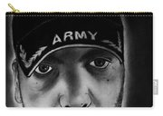 Self Portrait With Us Army Retired Cap Carry-all Pouch