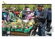 Selling Fresh Pineapple On Street In Lhasa-tibet    Carry-all Pouch