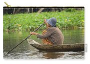 Senior Woman Paddling A Boat Carry-all Pouch