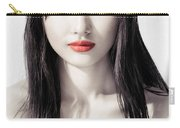 Sensual Artistic Beauty Portrait Of Young Asian Woman Face Carry-all Pouch