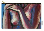 Sentimental Mood- Female Nude Carry-all Pouch