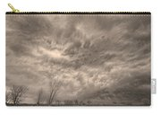 Sepia Angry Skies Carry-all Pouch