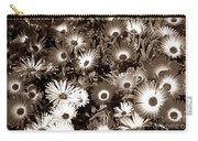 Sepia Asters Carry-all Pouch