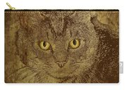 Sepia Cat Carry-all Pouch