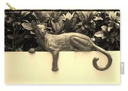 Sepia Cat Carry-all Pouch by Rob Hans