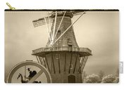 Sepia Colored No Tilting At Windmills Carry-all Pouch