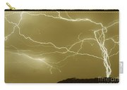 Sepia Converging Lightning Carry-all Pouch