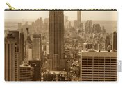 Sepia Empire State Building New York City Carry-all Pouch