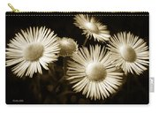 Sepia Flowers Carry-all Pouch