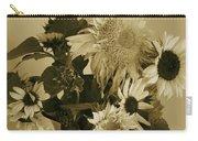 Sepia Garden Sunflower Bouquet Carry-all Pouch