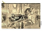 Sepia Horse Carry-all Pouch