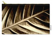 Sepia Leaf Carry-all Pouch
