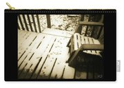 Sepia - Nature Paws In The Snow Carry-all Pouch