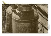 Sepia Photo Of Vintage Creamery Cans At The Old Prairie Homestead Near The Badlands Carry-all Pouch
