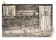 Sepia Rustic Old Colorado Barn Door And Window Carry-all Pouch by James BO  Insogna