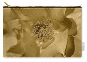 Sepia Toned Rose Close Up Carry-all Pouch