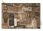 Sepia Toned Signs Of Coca Cola Carry-all Pouch