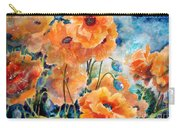 September Orange Poppies            Carry-all Pouch by Kathy Braud
