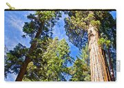 Sequoias Reaching To The Clouds In Mariposa Grove In Yosemite National Park-california Carry-all Pouch