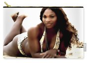 Serena Williams In The Sand Carry-all Pouch
