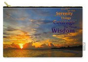 Serenity Prayer Sunset By Sharon Cummings Carry-all Pouch