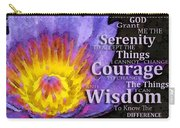 Serenity Prayer With Lotus Flower By Sharon Cummings Carry-all Pouch