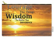 Serenity Prayer With Sunset By Sharon Cummings Carry-all Pouch
