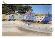 Serpentine Bench In Park Gueli In Barcelona Carry-all Pouch