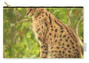 Serval Leptailurus Serval Carry-all Pouch