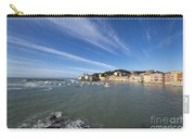 Sestri Levante With Blue Sky And Clouds Carry-all Pouch