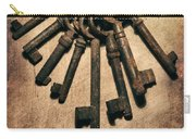 Set Of Old Rusty Keys On The Metal Surface Carry-all Pouch