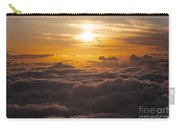Setting Sun Above The Clouds Carry-all Pouch
