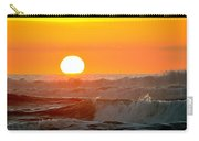 Setting Sun And Crashing Waves Carry-all Pouch