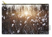 Setting Sun In Winter Forest Carry-all Pouch