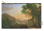 Setting Sun, Italy Oil On Canvas Carry-all Pouch