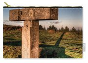 Setting Sun On A Cross By The Trenches Carry-all Pouch
