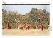 Seven Masai Giraffes Carry-all Pouch