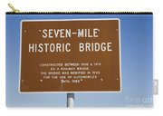 Seven Mile Bridge Florida Keys Sign Carry-all Pouch