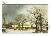 Seven Miles To Salem Carry-all Pouch by George Henry Durrie